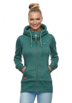 Ragwear Neska Zip Damen Sweatjacke dark green