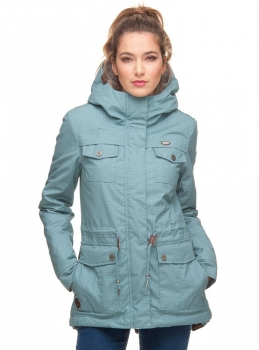 Ragwear Laika Minidots Damen Winterjacke dusty blue